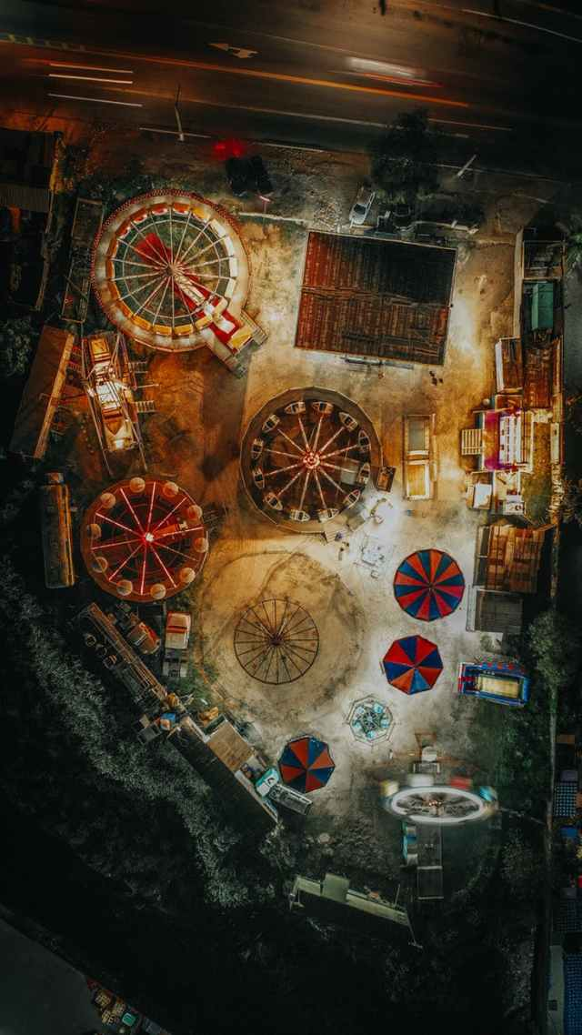 aerial view of carnival